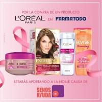 Compra de cualquier producto de la marca L'Oréal París en la cadena Farmatodo, estarás aportando un granito de arena a SenosAyuda