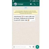 Despegar comienza a brindar servicios por WhatsApp
