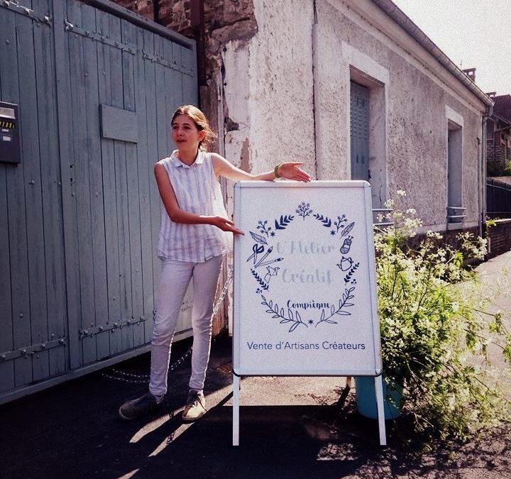 La boutique éphémère de l'Atelier Créatif au bord de l'Oise