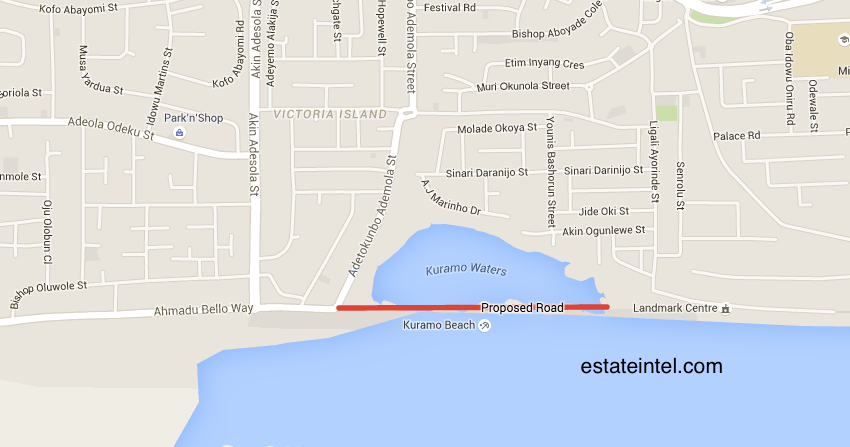 Proposed Coastal Road Extension of Ahmadu Bello Way to Water Corporation Road