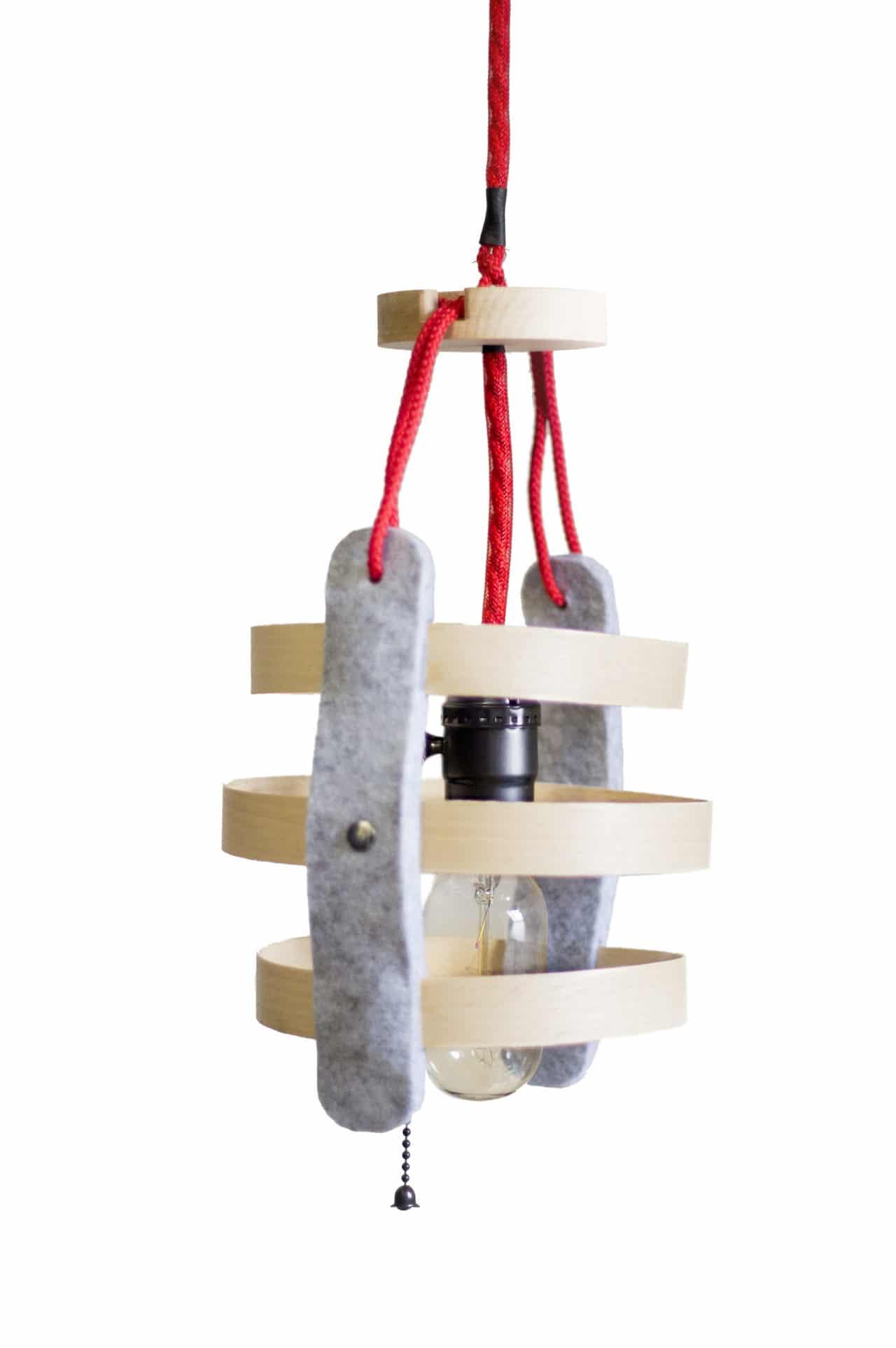 lampe suspension faite main honikky en htre en feutre luminaire style scandinave suspendre design original - Luminaire Style Scandinave