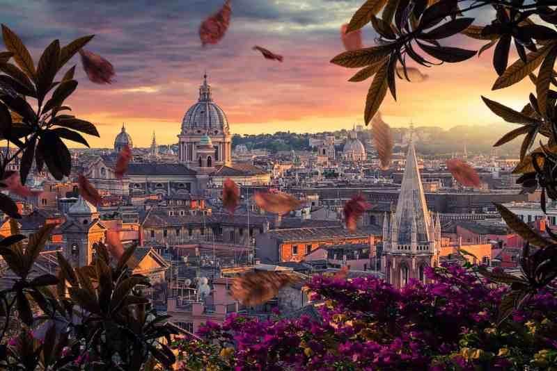 Ottobrata Romana - Roma d'Autunno vista da Villa Borghese