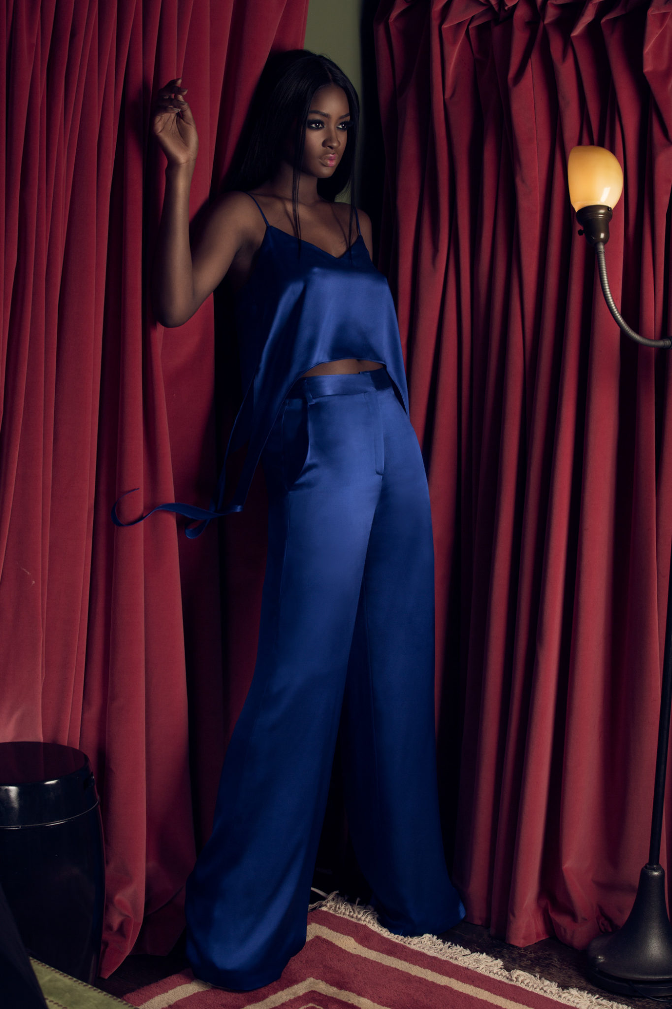 Eden Crop Top with tails & Oma Pants (royal blue)