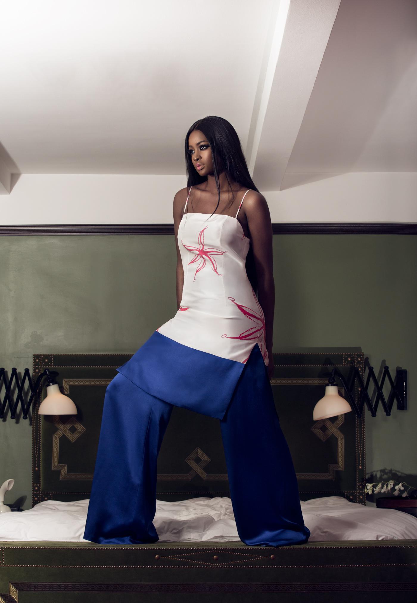 Eden Slipdress & Oma Pants (royal blue)