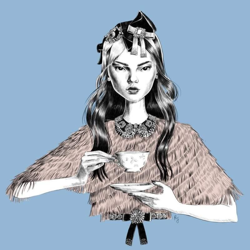 Self-Initiated New Talent – Rosalba Cafforio, una artista italiana especializada en hacer ilustraciones de moda. Tiene gran experiencia en esa industria, y en la actualidad se dedica a crear ilustraciones de moda y belleza para clientes de todo el mundo.