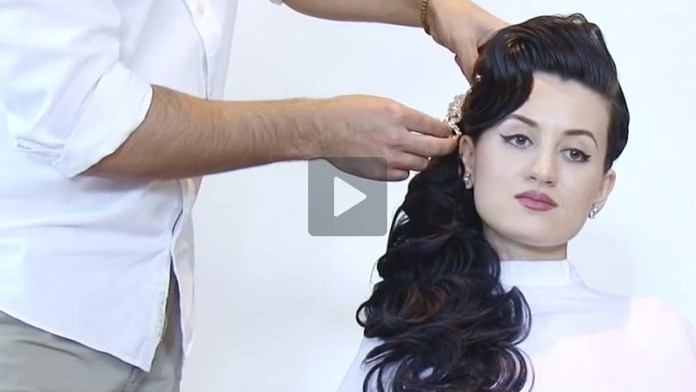 Video Alert! How-To: A Unique Take on Bridal Beauty by Farrukh Shamuratov