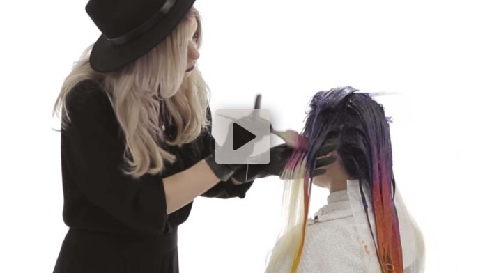 Video Alert! How-To: Melting Sunset Mermaid Haircolor with Larisa Love & Joico