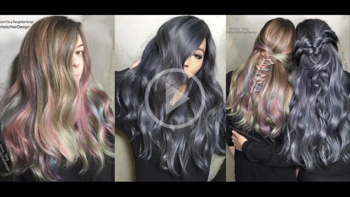 Video Alert! How To: Rainbow Balayage and Dark Denim Hair by Guy Tang & Rebecca Taylor