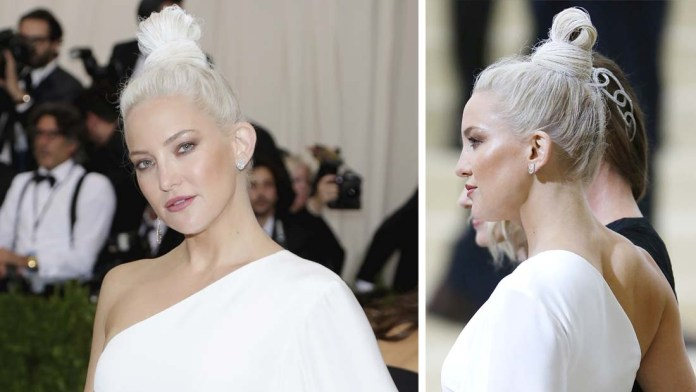 Get the Look! Kate Hudson's Sleek Top Knot by Celebrity Hairstylist Peter Gray