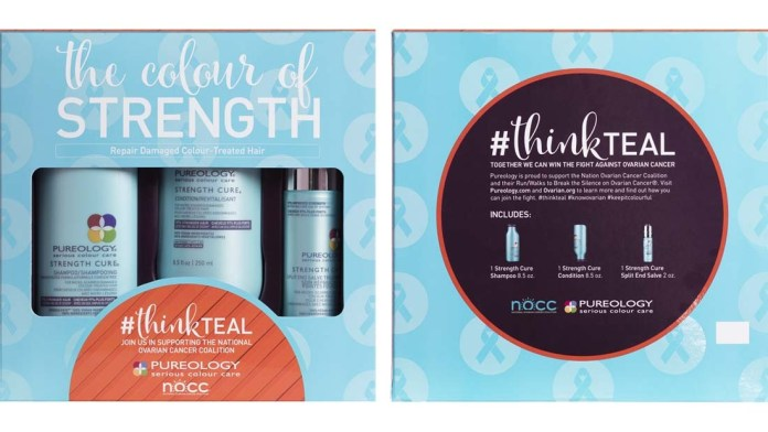 Think Teal! Pureology Introduces the Strength Cure Kit, Supporting the NOCC