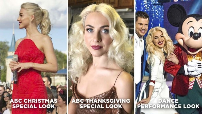 """Celebrity Stylist Tricks! Julianne Hough's """"Holiday Special"""" Looks by Jill Buck for Joico"""