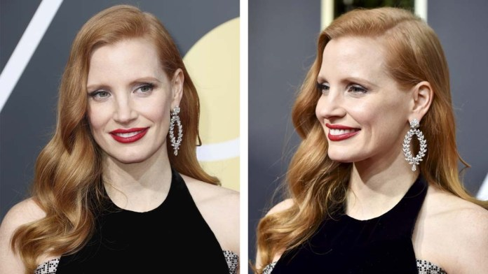 Get the Look: Jessica Chastain's Glamorous Waves by Renato Campora using Goldwell