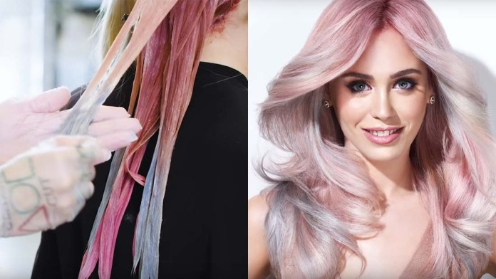 Video Alert! How To: Rose Gold Pastel Hair Color Formula and Step-by-Step