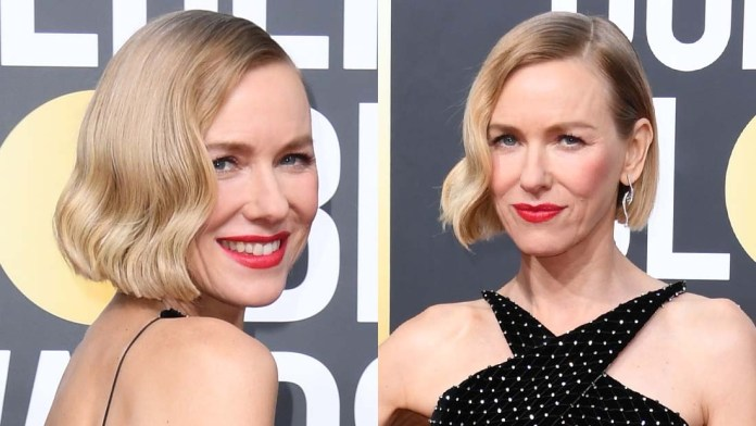 Golden Globes' How To: Naomi Watts' Sleek, Gorgeous Hair inspired by Carole Lombard