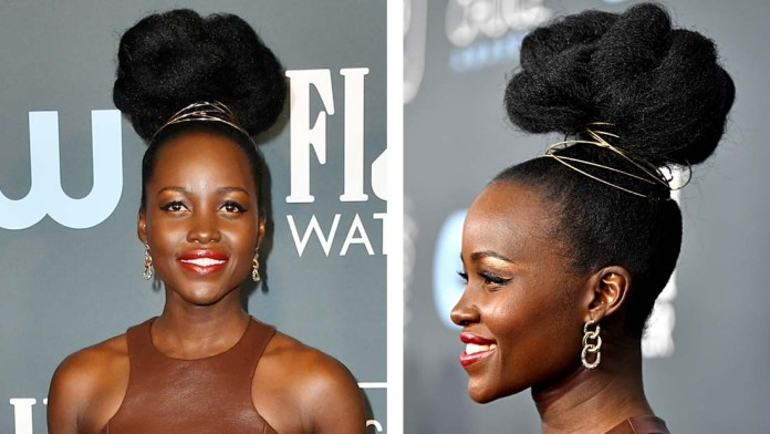 Get the Look! Lupita Nyong'o Afro Clouds by celebrity stylist Vernon François