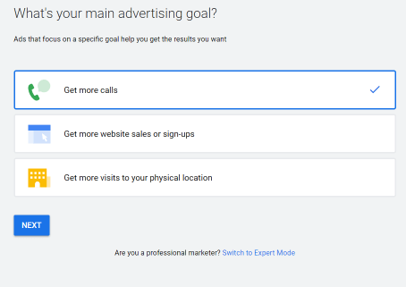Google Ads - Goals selection -Esther Goh Tok Mui