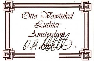 otto vowinkel concert model label