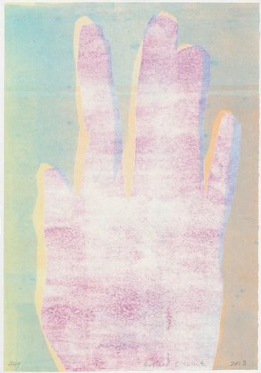 """Esther S White, 349, 2013, 13""""x19"""", monotype"""