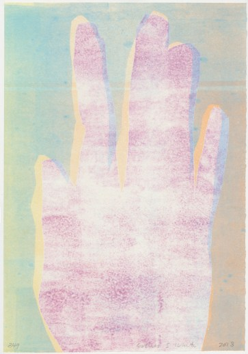 "Esther S White, 349, 2013, 13""x19"", monotype"