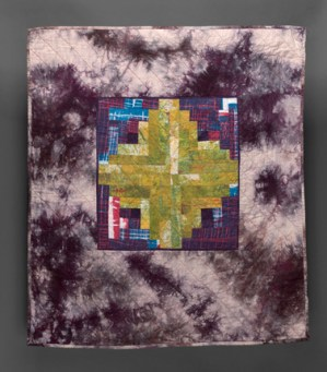 Esther S White, log cabin quilt study, 2016
