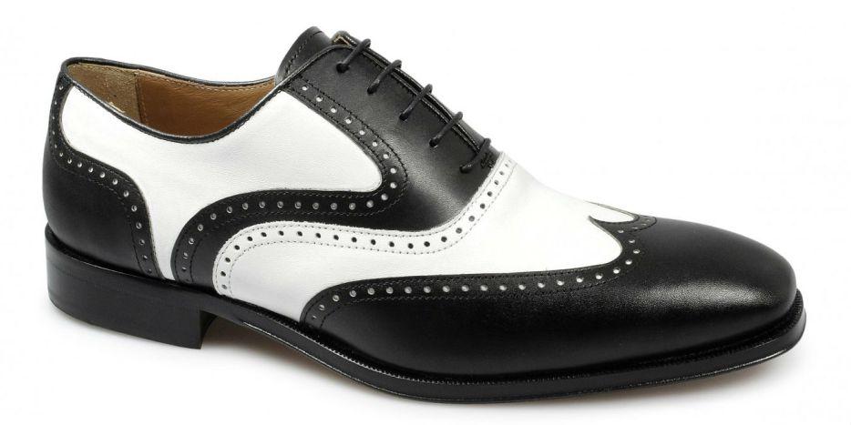 sapatos preto branco moda anos 20