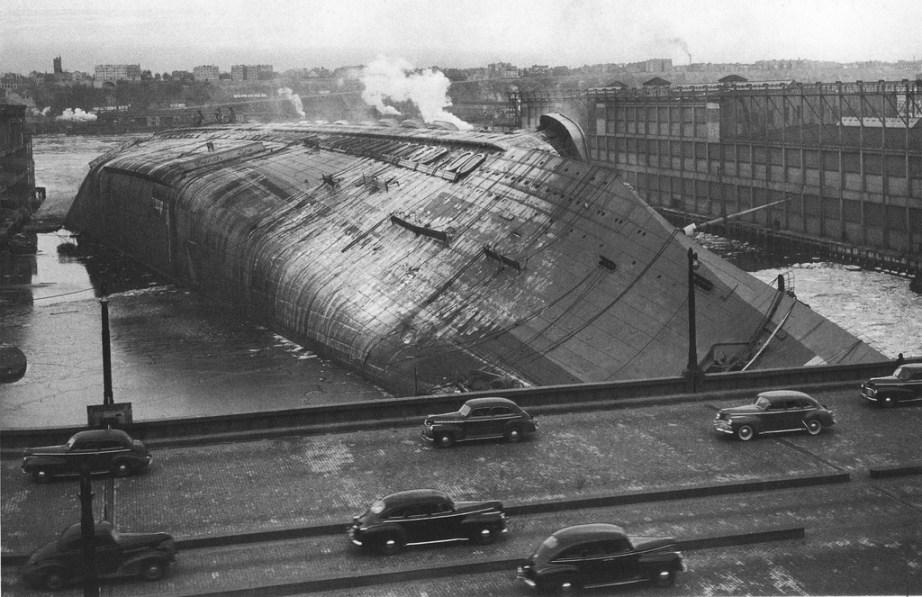 NY, 1942 - SS Normandie sabotagem