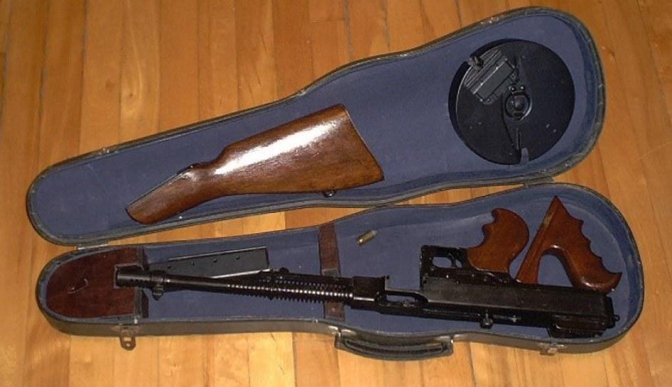 tommy gun caixas de violino