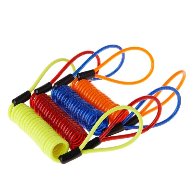 Cable espiral elástico para recordatorio de bloqueo de moto