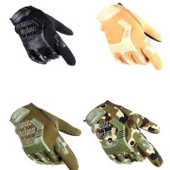 Guantes militares de camuflaje estilo motero