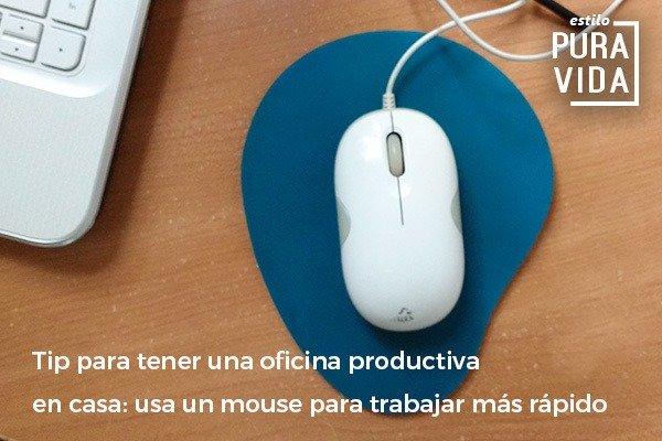 Usa un mouse para trabajar más rápido. Tip de productividad.
