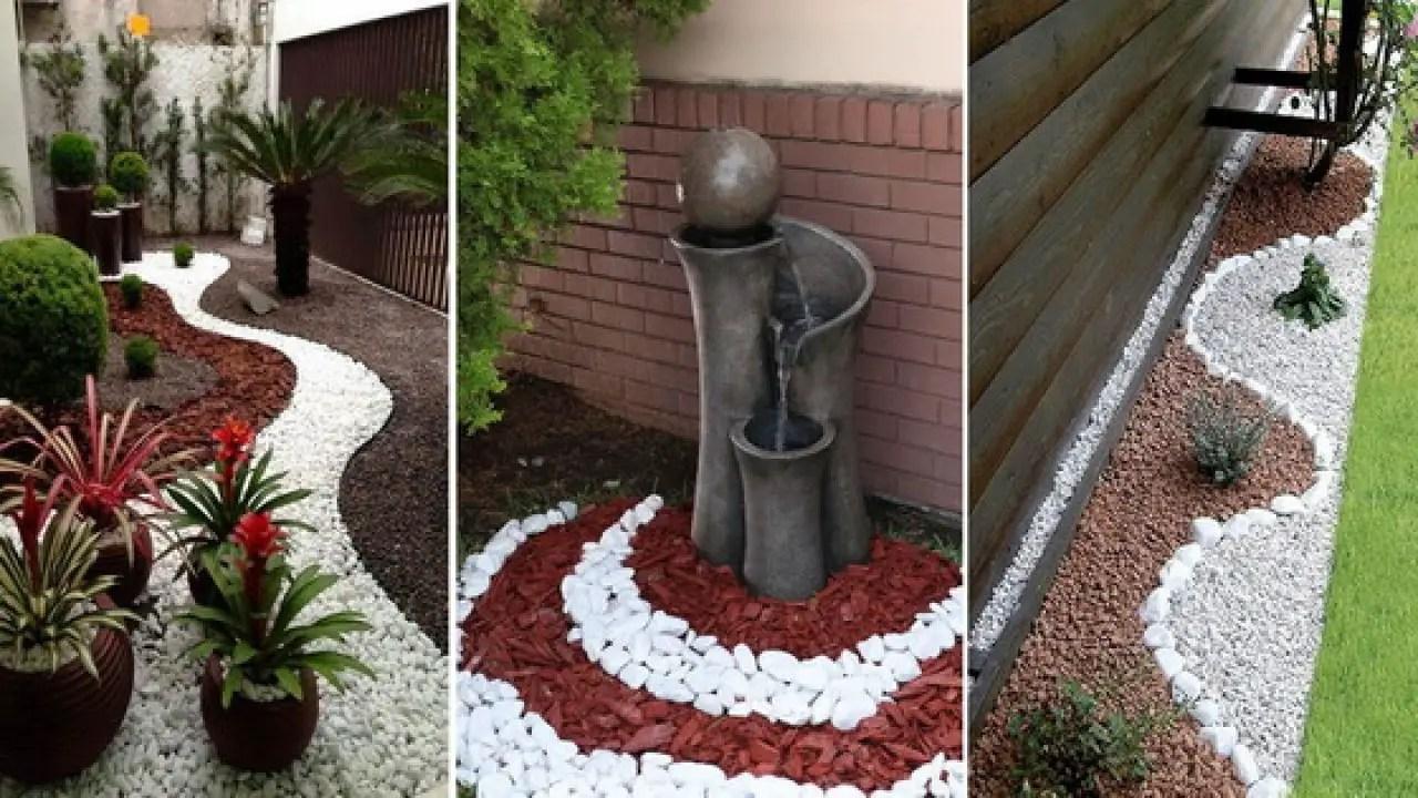 jardines con piedras ideas para