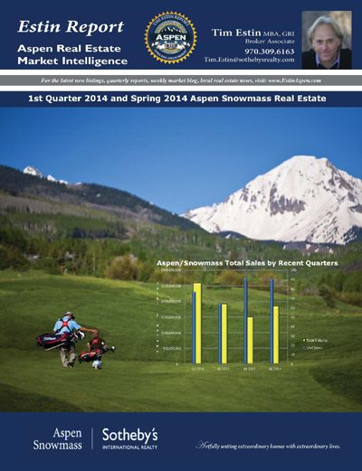 The Estin Report: 1st Quarter and Spring 2014: State of the Aspen Real Estate Market Image