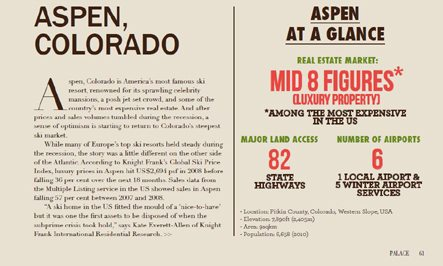 Aspen, CO – Special Real Estate Report, Palace Magazine (Asia) Image