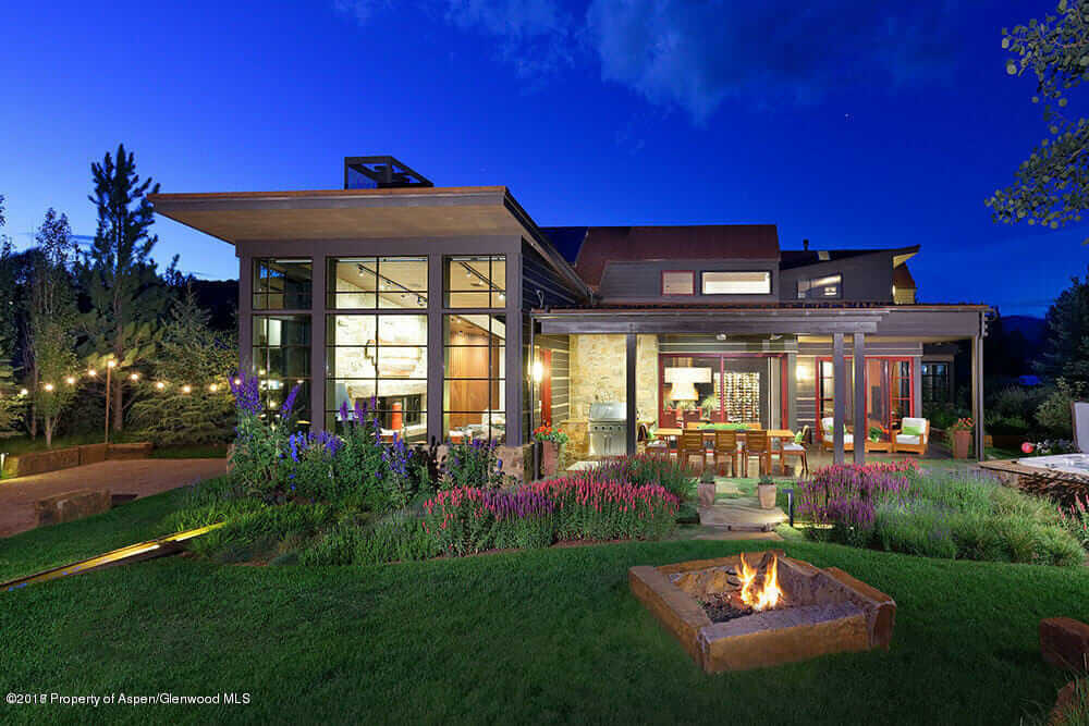 2011 Built Contemporary Home in Old Snowmass Closes at $2.9M/$775 sq ft Furn Image