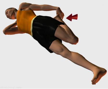 Estiramiento (stretching, streching) recomendado para:  atletismo,  senderismo,  windsurf,  escalada,  correr,  piernas,  dormir,  cuádriceps.