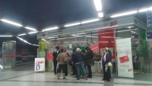 Posto de atendimento em Plaza Castilla