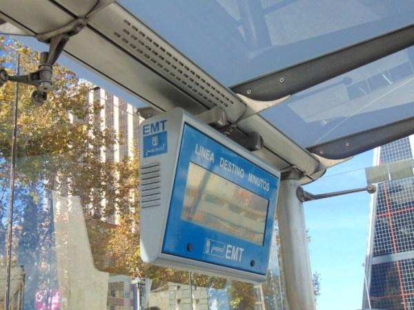 Informação sobre os próximos ônibus