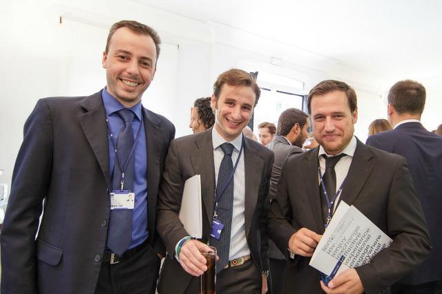 Ricardo com os colegas do MBA