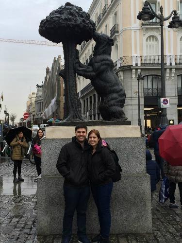 Nelson e Patrícia passeando por Madrid antes da mudança