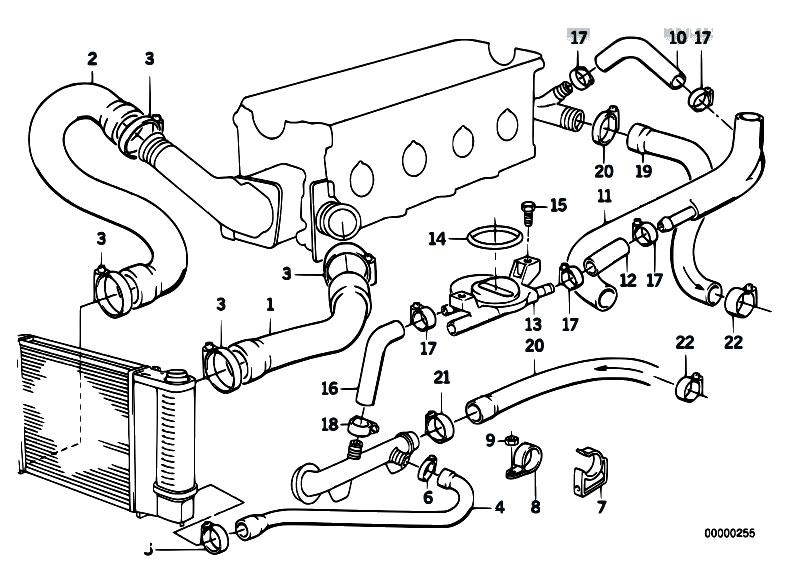 325i Diagram Hose E30 Coolant