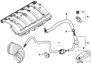 Original Parts for E46 320i M52 Sedan  Engine Vacuum