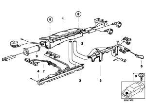 Original Parts for E36 320i M50 Sedan  Engine Electrical System Cable Harness Fixings  eStore