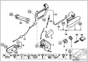 Original Parts for E39 520d M47 Touring  Bodywork Rear