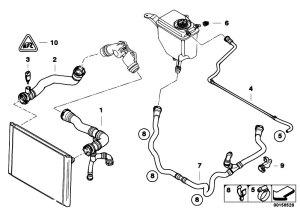 Original Parts for E60 530i M54 Sedan  Radiator Cooling