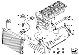 Original Parts for E39 525i M54 Touring  Engine Cooling