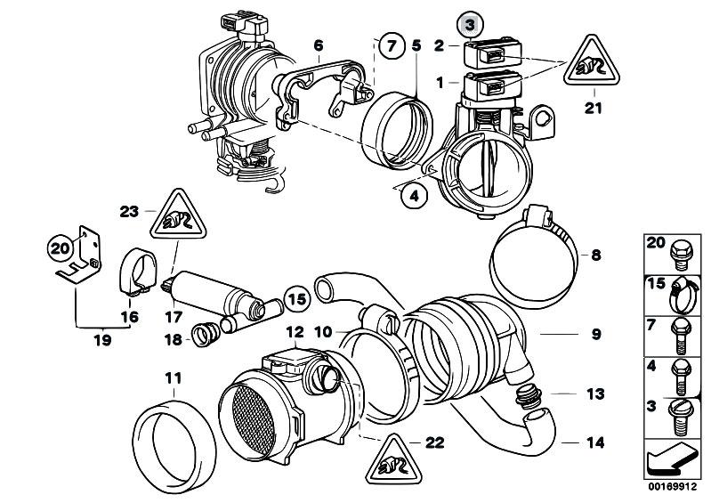 Original Parts For E38 728i M52 Sedan Fuel Preparation
