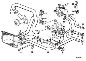 Original Parts for E34 520i M20 Sedan  Engine Cooling