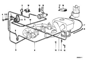 Original Parts for E30 318i M10 4 doors  Engine Vacuum