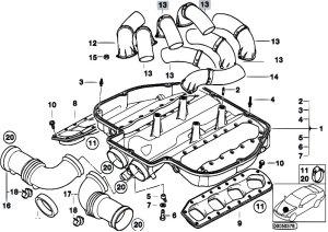 Original Parts for E39 M5 S62 Sedan  Engine Intake