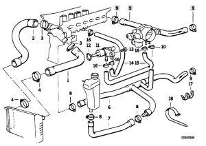 Original Parts for E36 320i M50 Cabrio  Engine Cooling